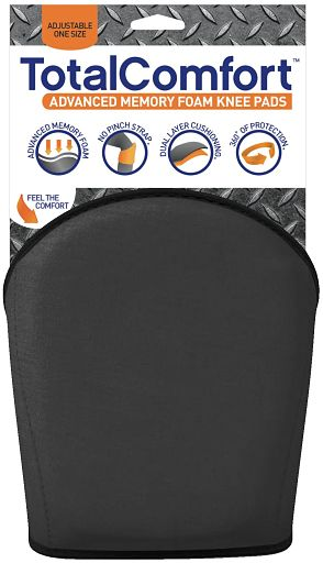 Total Comfort Black Knee Pad with Packaging