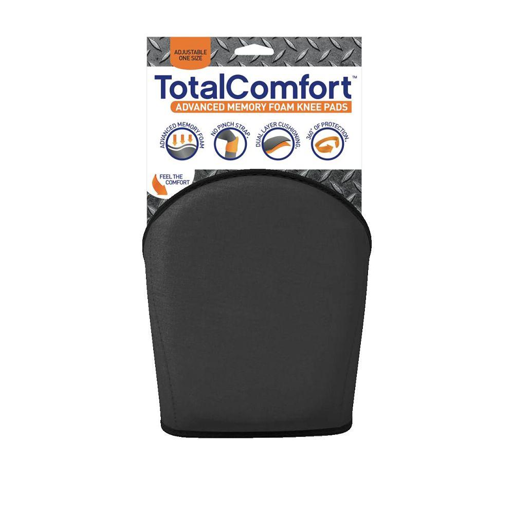 Total Comfort Black Knee Pad with Packaging