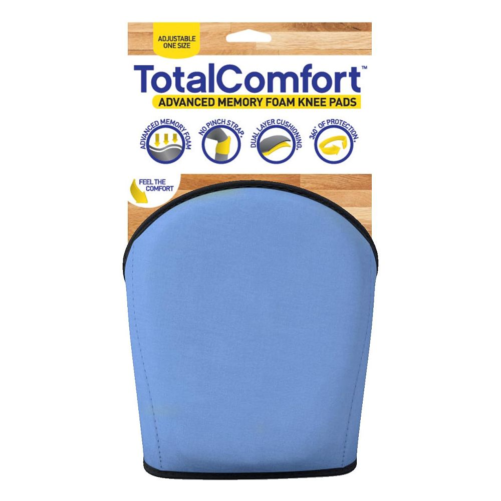 Total Comfort Blue Knee Pad with Packaging