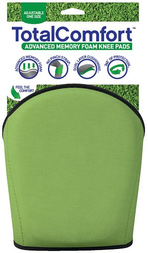 Total Comfort Green Knee Pad with Packaging