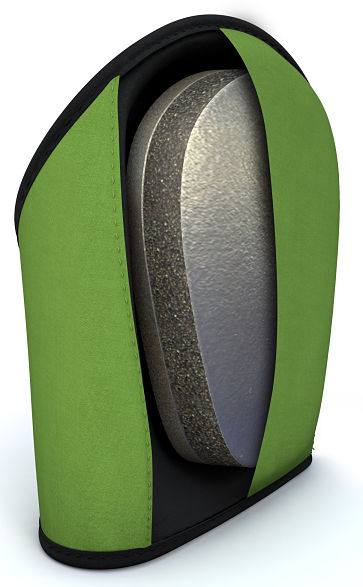 Total Comfort Medical Green Knee Pad Inside Foam View