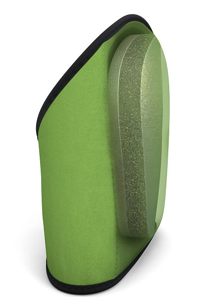 Total Comfort Green Knee Pad Inside Foam View 2